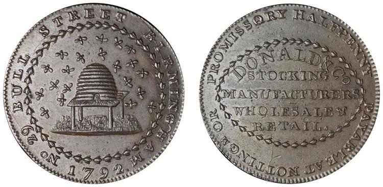 William Donald, Commercial Halfpenny, 1792 (D&H Nottinghamshire 7)