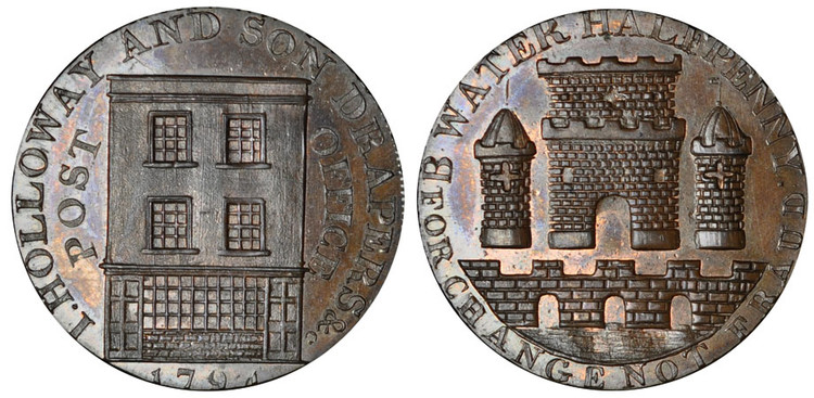 Holloway & Son, Commercial Halfpenny, 1794 (D&H Somersetshire 86d)