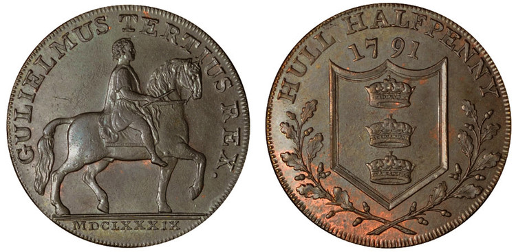 Jonathan Garton, Commercial Halfpenny, 1791 (D&H Yorkshire 20)