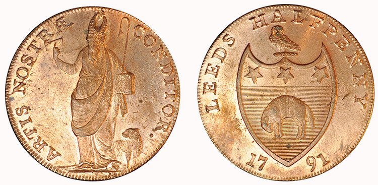 Richard Paley, Commercial Halfpenny, 1791 ( D&H Yorkshire 51)