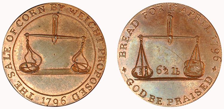 Jelly & Arnott, Badminton Halfpenny, 1796 (D&H Gloucestershire 52)