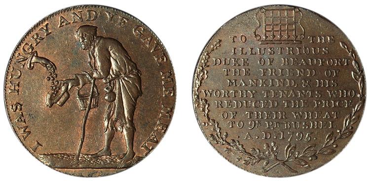 Jelly & Arnott, Copper Halfpenny, 1795 (D&H Gloucestershire 22)