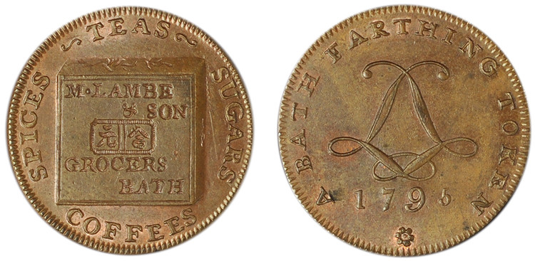 Mary and Lacon Lambe, Copper Farthing, 1795. (D&H Somersetshire 112a)