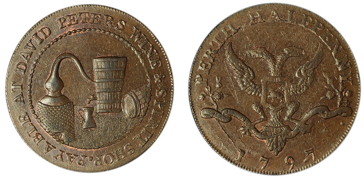 David Peter, Copper Halfpenny, 1797 (D&H Perthshire 10)