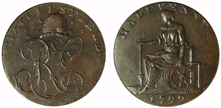 Imitation Macclesfield Halfpenny, 1792 (D&H Cheshire 72c)