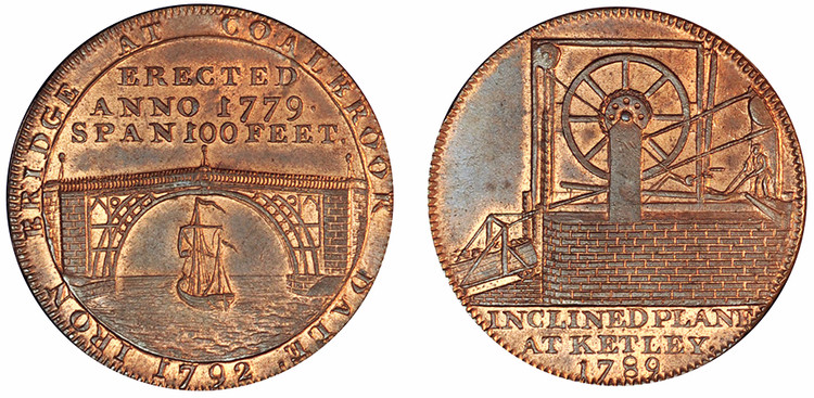 Reynolds & Co, Copper Halfpenny, 1792 (D&H Shropshire 12)