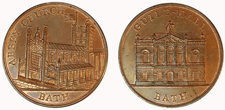 Bath, Copper Penny, (D&H Somersetshire 4)