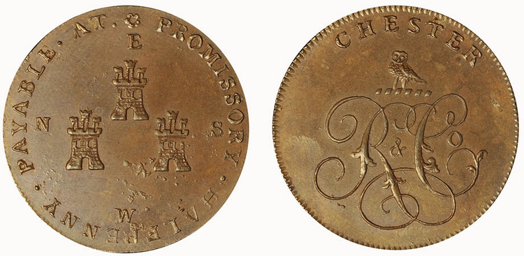 Peter Kempson, Copper Halfpenny (D&H Cheshire 5a)
