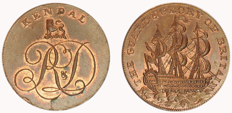 William Lutwyche, Copper Halfpenny (D&H Westmoreland 5a)