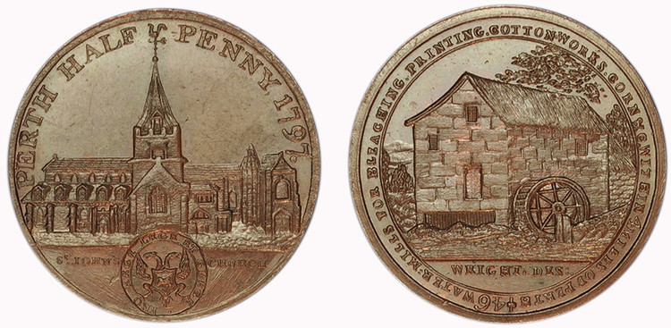 James Wright, Perthshire Halfpenny, 1797  (D&H Perthshire 4)