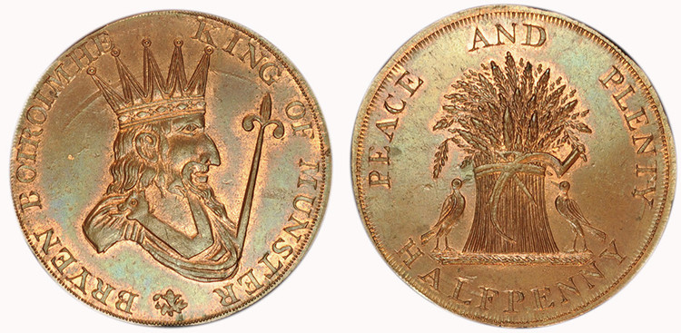 Uncertain Issuer, Copper Halfpenny  (D&H Munster 2a)
