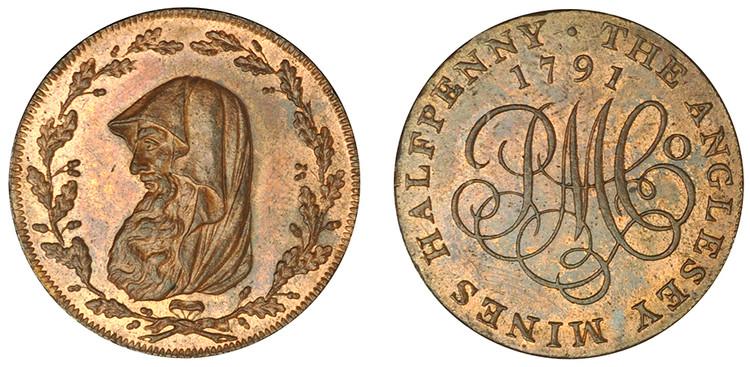 Parys Mine Company Copper Halfpenny, 1791   (D&H Anglesey 391)