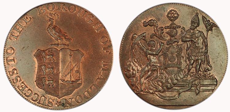 William Draper, Copper Halfpenny (D&H Essex 35)