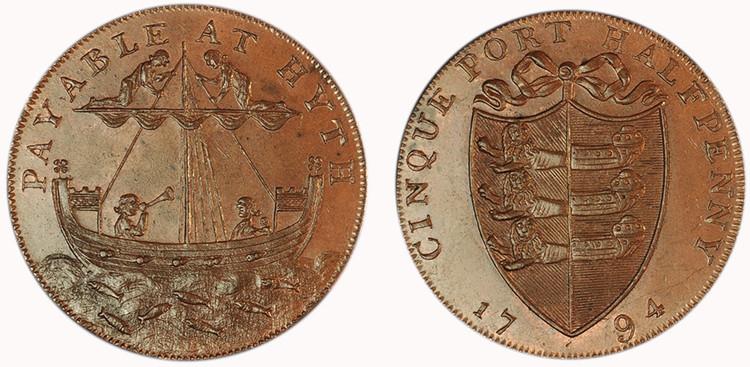 Richard Shipden, Commercial Halfpenny, 1794  (D&H Kent 31)