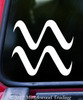 AQUARIUS Vinyl Decal -Astrology Zodiac Sign Air The Water-Bearer - Die Cut Sticker