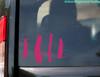 "MONOGRAM Vinyl Sticker 8"" x 5"" - Custom Name Initials - Personalized Die Cut Decal - SWEET PEA"