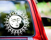 SUN AND MOON Vinyl Sticker - Faces Kissing Celestial Tribal Tattoo - Die Cut Decal