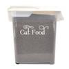 CAT FOOD Vinyl Sticker - Home Organization Label Feline Kitten Treats - Die Cut Decal SWASH
