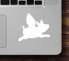 """2x FLYING PIG 2.5"""" x 2.25"""" Vinyl Decal Stickers - Wings - When Pigs Fly"""