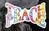 """TEACH PEACE 5"""" x 3"""" Die Cut Decal - Tie Dye Hippie Love Freedom"""