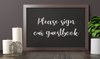 """PLEASE SIGN OUR GUESTBOOK 10"""" x 4"""" Vinyl Decal Sticker - V1 - Wedding"""
