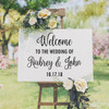 """WELCOME TO THE WEDDING OF 20"""" x 16"""" Vinyl Decal Sticker - V2 - Personalized"""