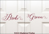 "BRIDE and GROOM 11"" Vinyl Decal Stickers - V1 - Wedding"