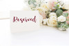 RESERVED -V2- Vinyl Sticker - Wedding Table Party - Die Cut Decal