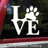 Love with Pawprint Vinyl Decal Sticker - Dog Pat Pawprint Puppy Paw Kitten