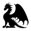DRAGON Vinyl Decal Sticker - V3- Wyvern Fantasy Folklore Medieval
