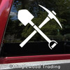 CROSSED SHOVEL and PICK AXE Vinyl Decal Sticker - Mining Pickaxe Expedition