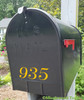 "Fancy Mailbox Numbers - Vinyl Decal Sticker - 1"" to 10"" tall - Custom Text for House Address - Name - DUCHESS"