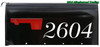 """Fancy Mailbox Numbers - Vinyl Decal Sticker - 1"""" to 10"""" tall - Custom Text for House Address - Name - DUC"""