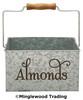 ALMONDS Vinyl Sticker - Pantry Organization Kitchen Canister Label - Die Cut Decal - Swash