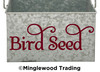 BIRD SEED Vinyl Sticker - Feed Canister Label Die Cut Decal - Swash
