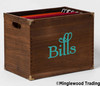 BILLS Vinyl Sticker - Box Bin Label Die Cut Decal - Swash