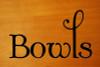 BOWLS Vinyl Sticker - Kitchen Organization Label - Die Cut Decal - Swash