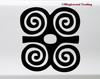 Dwennimmen Vinyl Sticker - Adinkra Strength Wisdom Symbol - Die Cut Decal