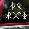 Set of 5 Bind Rune Vinyl Stickers - Love Courage Protection Good Luck Health - Die Cut Decals