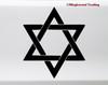 Seal of Solomon Vinyl Sticker - Hexagram Protection Symbol - Die Cut Decal
