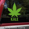 Kale Marijuana Leaf Vinyl Decal - Cannabis Pot Indica Sativa - Die Cut Sticker