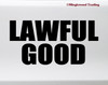 Lawful Good Vinyl Sticker - RPG Role Playing Character Alignment V2 - Die Cut Decal