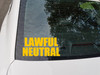Lawful Neutral Vinyl Sticker - RPG Role Playing Character Alignment V2 - Die Cut Decal