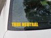True Neutral Vinyl Sticker - RPG Role Playing Character Alignment V1 - Die Cut Decal