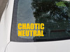 Chaotic Neutral Vinyl Sticker - RPG Role Playing Character Alignment V2 - Die Cut Decal