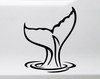 Tail of a Whale Vinyl Decal - Ocean Sea Waves Water - Die Cut Sticker
