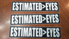 "3-pack ESTIMATED>EYES 7"" x 1.5"" Die Cut Vinyl Decal Bumper Stickers - Grateful Dead Sticker - Jerry Garcia - Eyes of the World"