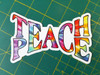 "Set of 2 TEACH PEACE 5"" x 3"" Die Cut Vinyl Decal Bumper Stickers - Tie Dye Hippie Grateful Dead Love Freedom - 2-pack"
