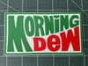 "Set of 2 MORNING DEW 5"" x 2.75"" Die Cut Vinyl Decal Bumper Stickers - Grateful Dead Sticker - Jerry Garcia - 2-pack"