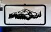 Mountains Forest Scene Vinyl Decal V5 - Camper RV Travel Trailer Graphics 4x4 - Die Cut Sticker